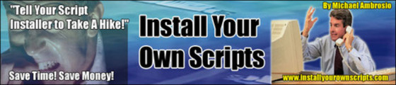 Thumbnail Install Your Own Scripts PLR/MRR Package