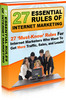 27 Essential Rules of Internet Marketing MRR