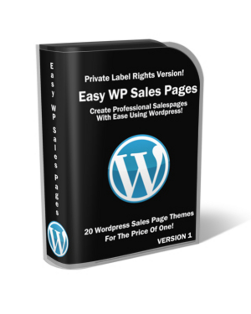 Product picture Easy Wp Sales Pages PLR.zip
