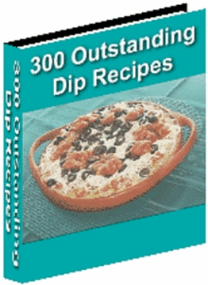Product picture 300 Outstanding Dip Recipes MRR