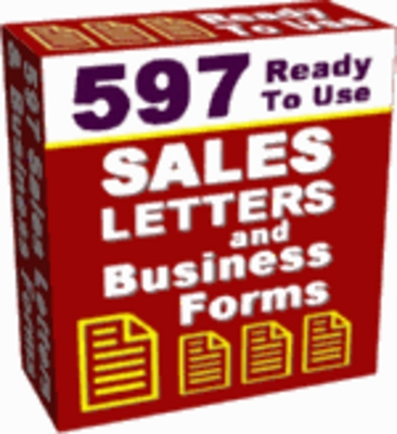 Product picture 597 Ready To Use Sales Letters and Business Forms