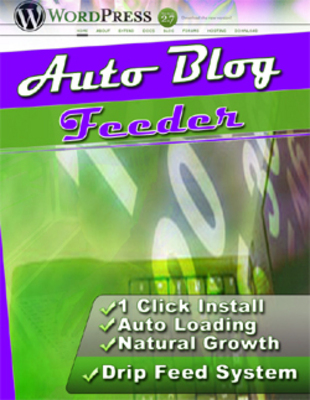 Product picture Auto Blog Feeder Software With Master Resell Rights